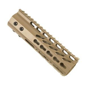 AR15 KeyMod Free Float Carbine Handguard in Magpul Flat Dark Earth