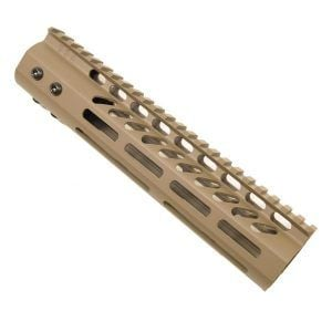AR-15 M-Lok 9 inch Mid-Length Free Float Rail System IN FDE