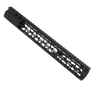 AR15 15 Inch KeyMod Diamond Series Handguard Black