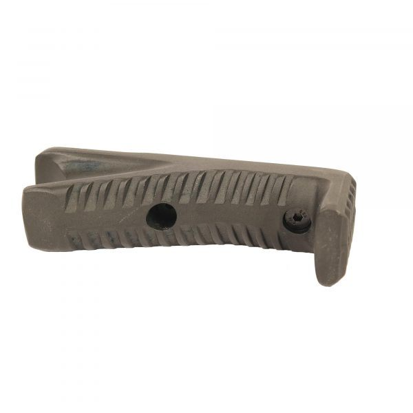 AR-15 Aluminum Angled Grip For KeyMod or M-LOK Systems - FDE on side