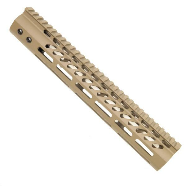 "AR-15 M-LOK 12"" Free Float Light Weight Handguard In FDE"