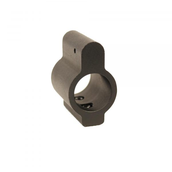 AR-15 .625 ID Aluminum Low Profile Gas Block - front view