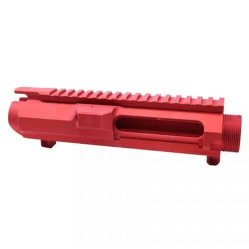 AR-15 .308 Cal. Stripped Billet Upper Receiver in Red