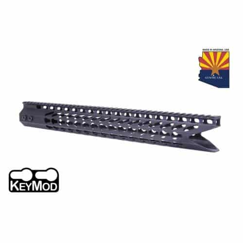 "16.5"" Ultra Slimline Octagonal 5 Sided Keymod Handguard With ""Shark Mouth"" in Black"