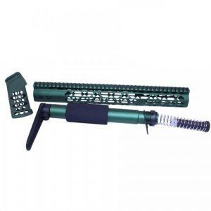 AR-15 AIRLITE SERIES COMPLETE FURNITURE SET (ANODIZED GREEN)