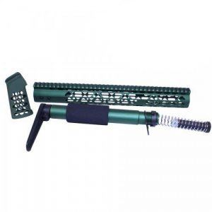 AR-15 Airlite Series Furniture Set In Anodized Green
