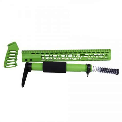 AR-15 Airlite Series Complete Furniture Kit In Zombie Green