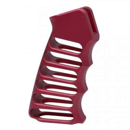 Ultralight Skeletonized Aluminum Pistol Grip In Red