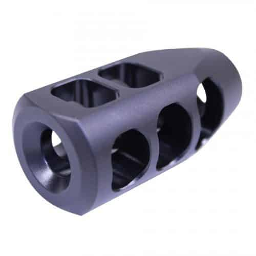 LR-308 AR-10 Big Tank Style Muzzle Break With Nitride Finish