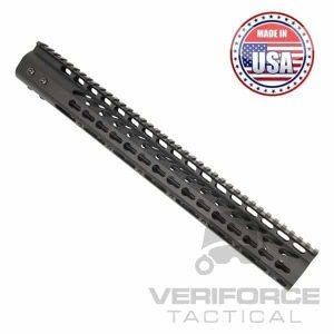 AR15 15 Inch KeyMod Free Float Handguard Black