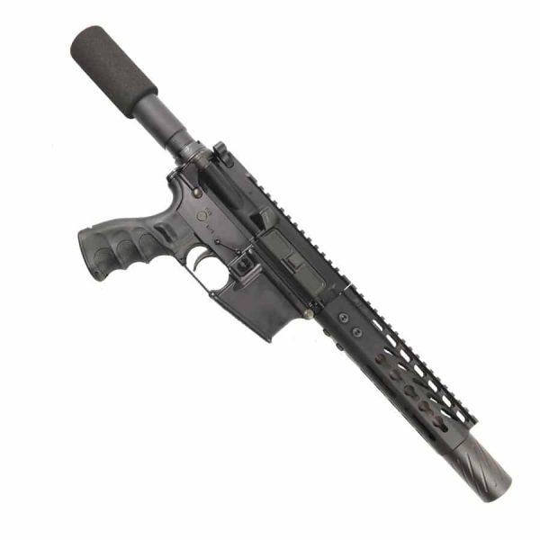 AR-15 Pistol Upper 5.56 7 inch KeyMod Slim Profile with MCBS ON LOWER