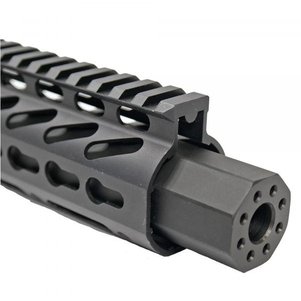 Octagonal Barrel Extension Mock Suppressor For AR-15