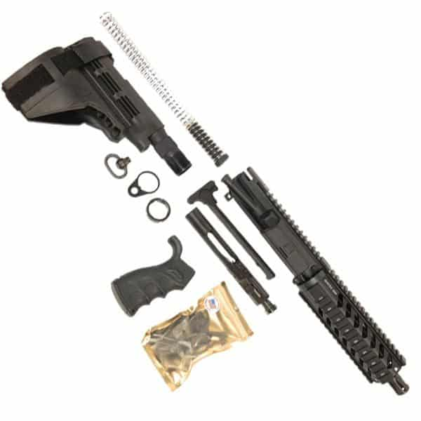 AR 90 Pistol Kit 556 With 7 Inch Quad Rail And Sigtac SB15 Brace