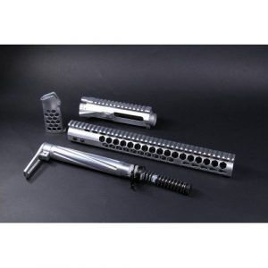 AR-15 Polished Complete Honeycomb Furniture Kit With Matching Upper Receiver