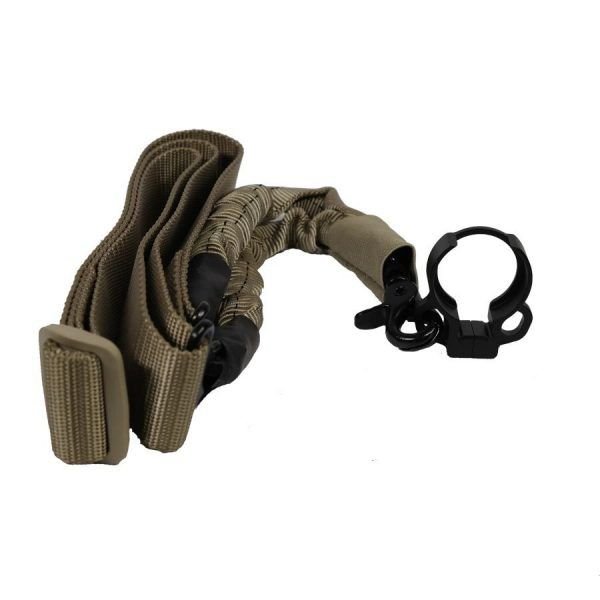 Single Point Bungie Sling With Adapter - Tan