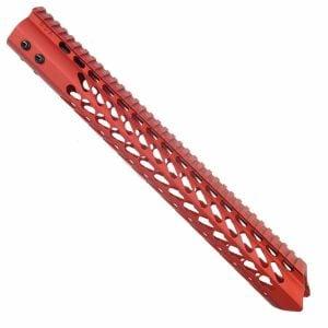 AR15 Warhead Series 15 KeyMod Handguard In Red