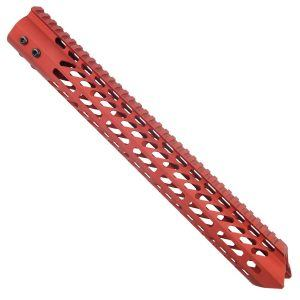 AR-15 Warhead Series 15 M-LOK Free Float Handguard In Red