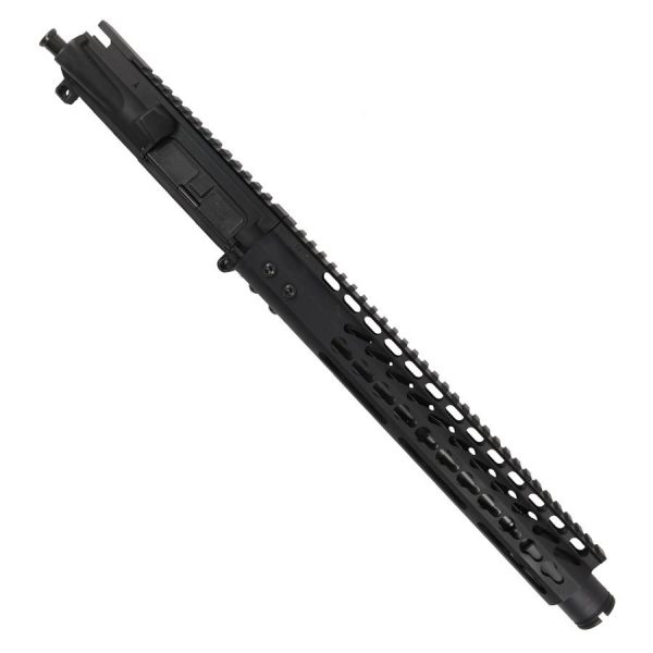 """AR 15 Pistol Upper with 12"""" KeyMod RIP Series and Slim Cone With 10.5"""" Barrel"""