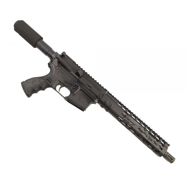 "AR 15 Pistol Upper 5.56 10"" KeyMod Air Lite Series on Lower"