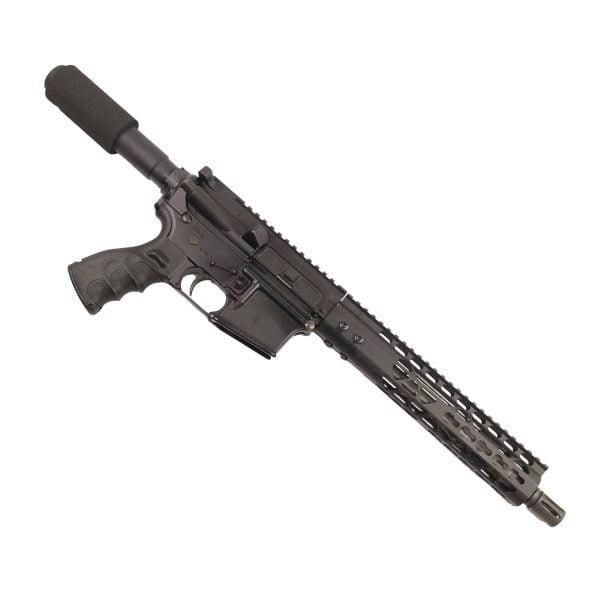 "AR 15 Pistol Upper 5.56 10"" KeyMod Air Lite Series on Lower"