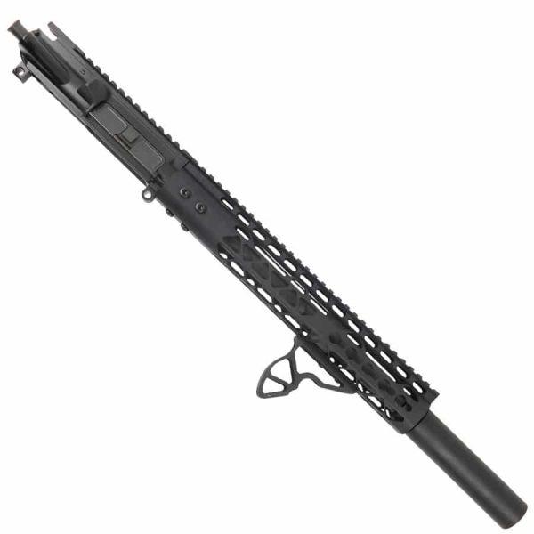 "AR 15 Pistol Upper 5.56 12"" Diamond KeyMod With Fake Can"