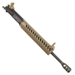 AR-15 5.56 Upper Receiver 12 inch Quad rail system and Tank Muzzle Brake in Dark Earth
