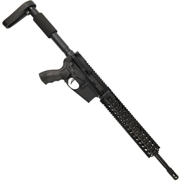 """AR-15 5.56 16"""" Upper With 12"""" Free Float Quad Rail And A2 Cage"""