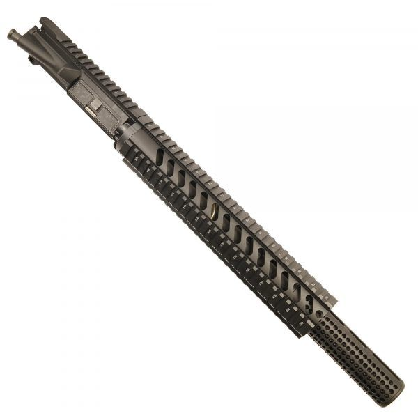 "AR-15 5.56 Upper With 12"" Free Float Quad Rail And Socom Mock Suppressor"