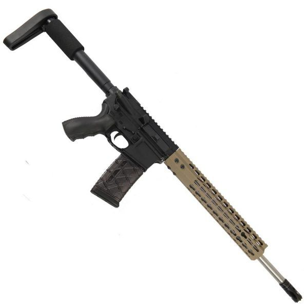 """AR15 5.56 Upper with 12"""" Octagonal Super Light KeyMod Slim profile and Match Grade Barrel With Gasher Flash Hider In FDE"""
