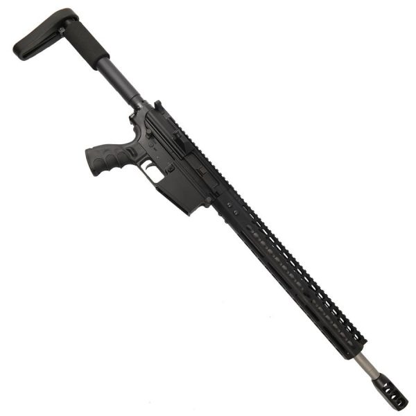 "AR LR308 Complete Upper Receiver with 18"" Stainless Barrel and 15"" Slim Profile KeyMod Handguard And Tank Brake"