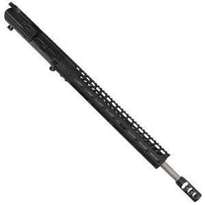 "AR LR308 Complete Upper Receiver with 18"" Stainless Barrel and 15"" Slim Profile M-LOK Handguard And Tank Brake"