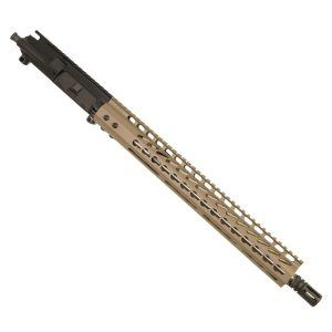 "AR15 300 AAC Blackout Upper with 15"" Lightweight KeyMod Slim Profile in Flat Dark Earth"