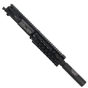 AR-15 300 Black Out Pistol Upper with Carbine Quad Rail And Mock Suppressor