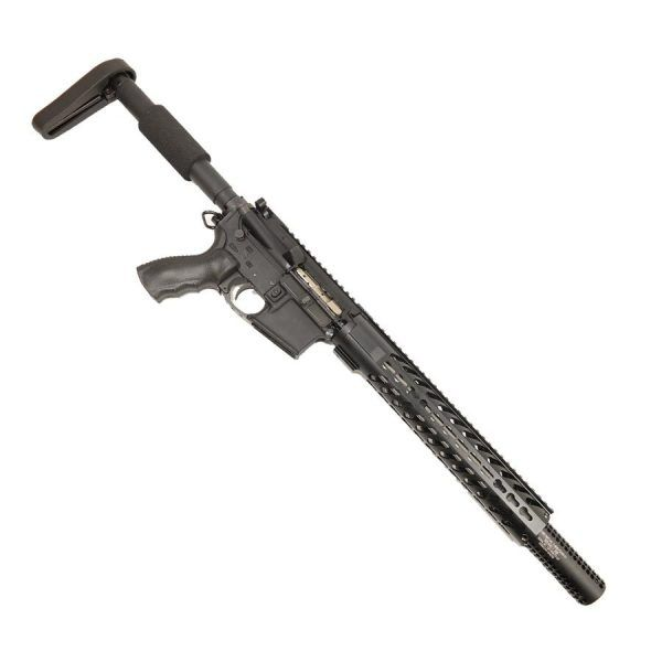 "AR15 300 aac Blackout Upper with 12"" KeyMod and Socom Fake Suppressor with Holes on Lower"
