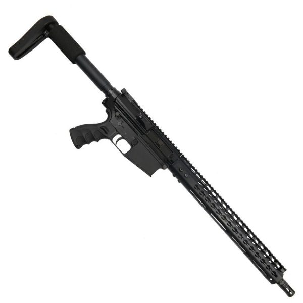 "AR LR308 Complete Upper Receiver with 16"" Nitride Barrel and 15"" Slim Profile KeyMod Handguard"