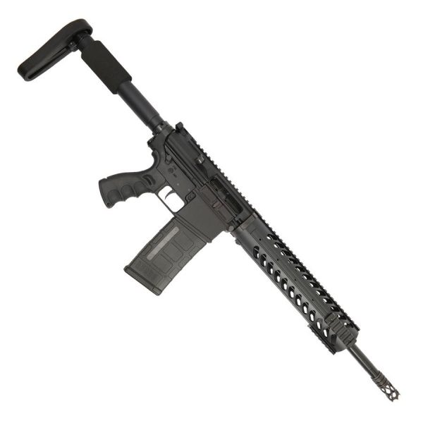 """AR LR308 Complete Upper Receiver with 16"""" .308 Stainless Steel Barrel and 12"""" Fat Handguard on Lower"""