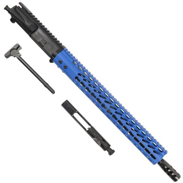 "AR15 6.5 Grendel Complete Upper Receiver With 15"" KeyMod Handguard In Blue"