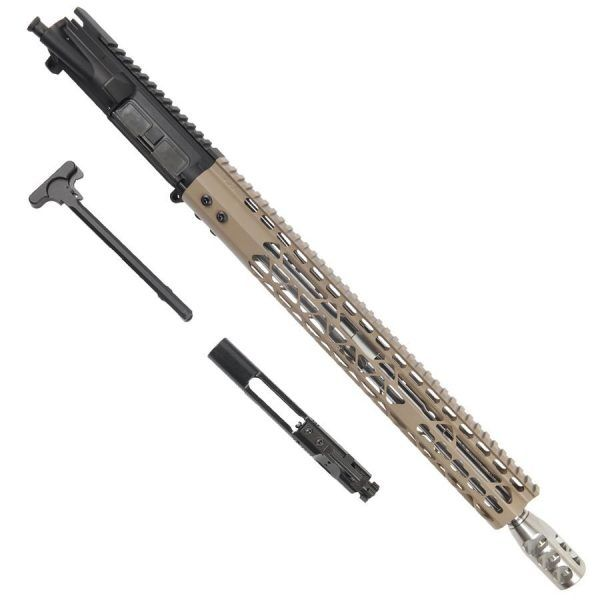 AR15 6.5 Grendel Complete Upper Receiver Elite Series In FDE