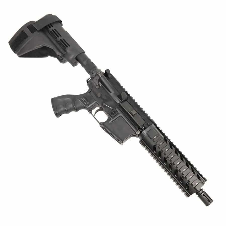 AR-15 Pistol Upper with Carbine Quad Rail on Lower