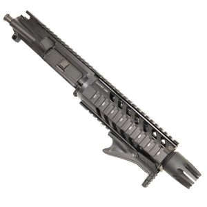 AR-15 Pistol Upper with Carbine Quad Rail With Claw Flash Hider on Lower