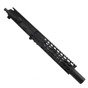"AR 15 Pistol Upper 5.56 9"" Custom KeyMod Octagonal Handguard With Mock Suppressor"