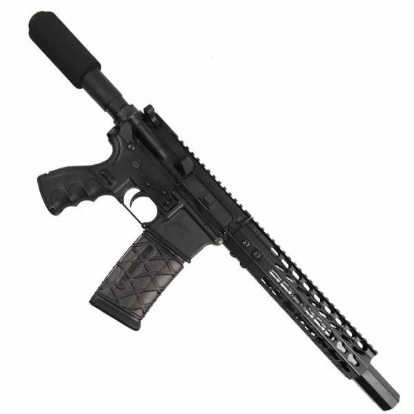 "AR 15 Pistol Upper 5.56 9"" Custom KeyMod Octagonal Handguard With Mock Suppressor"