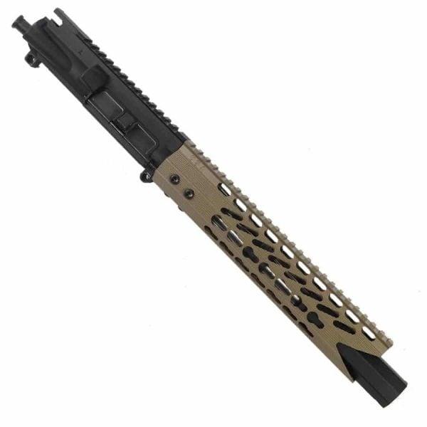 """AR 15 Pistol Upper 5.56 10"""" Custom KeyMod Octagonal """"SHARK"""" version 3"""