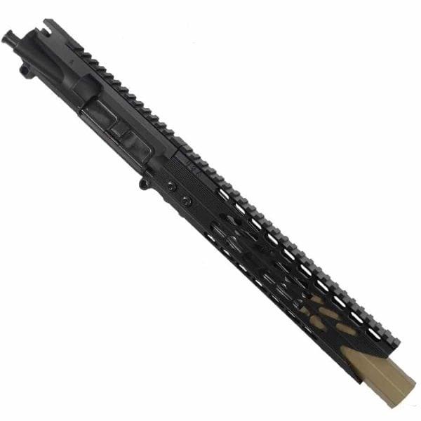 """AR 15 Pistol Upper 5.56 10"""" Custom KeyMod Octagonal """"SHARK"""" version 2"""
