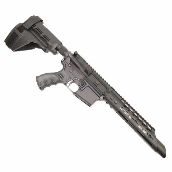 AR 15 Pistol Upper 5.56 RIP Slant Cut KeyMod with Slant Cone on Lower Receiver