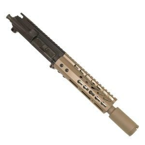 "AR 15 Pistol Upper 5.56 7"" KeyMod Slim Profile RIP Series Black in Magpul Dark Earth"