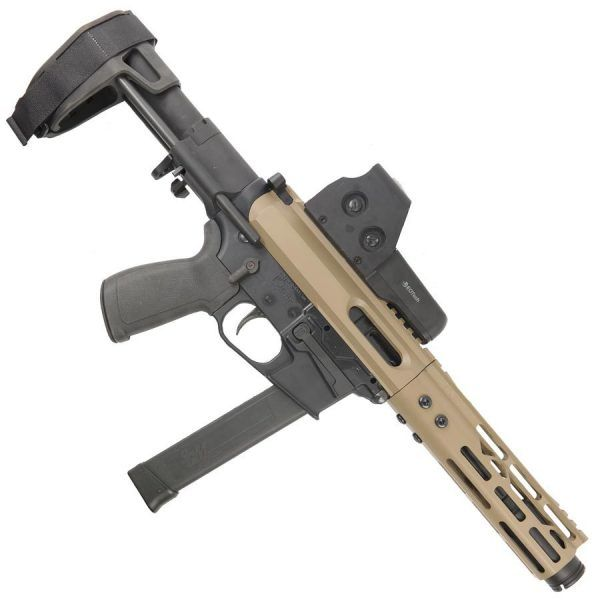 AR15 9MM Complete Upper In FDE With Flash Cone