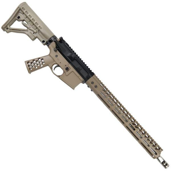 "AR-15 5.56 Billet Upper With 15"" M-LOK FDE Handguard And Spike Muzzle Comp"