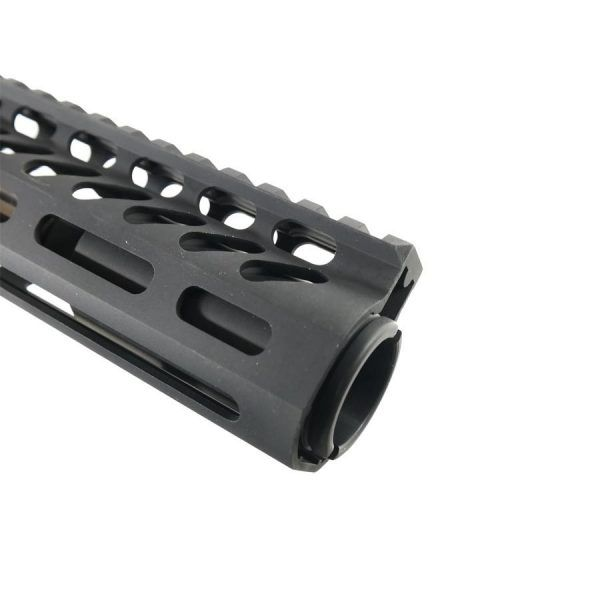 "AR 15 Pistol Upper 5.56 10"" M-Lok Slim Profile RIP Series Black Close up"