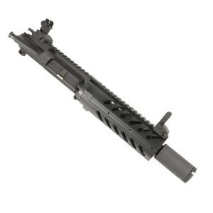 AR-15 Pistol Upper 5.56 7″ Fat Free Float and Flip Up Sights